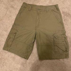 Men's Levi's Dark Khaki Cargo Shorts - 34